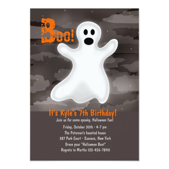 Friendly Ghost Halloween Party Invitation
