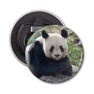 Friendly Giant Panda Button Bottle Opener