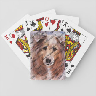 FRIENDLY GOLDEN COLLIE PLAYING CARDS