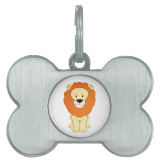 Friendly Golden Lion Pet Tag