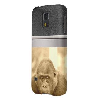 friendly gorilla, sepia case for galaxy s5