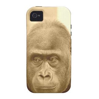 friendly gorilla, sepia Case-Mate iPhone 4 covers