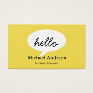 Friendly Hello Business Card