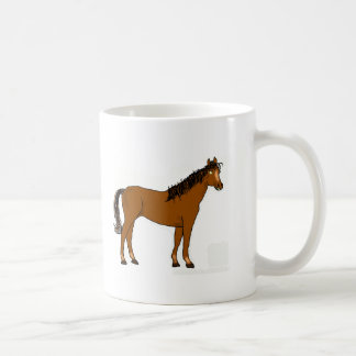 friendly horse basic white mug