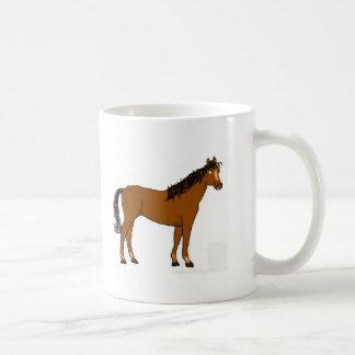 friendly horse basic white mug