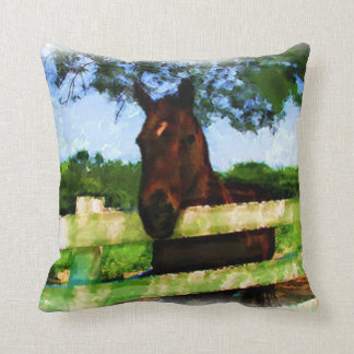 Friendly Horse Throw Cushions