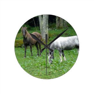 FRIENDLY HORSES WALL CLOCKS