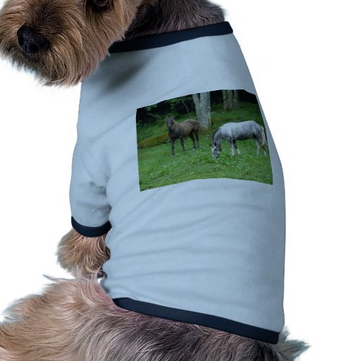 FRIENDLY HORSES DOG SHIRT