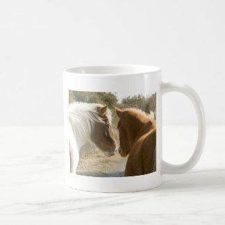 FRIENDLY HORSES COFFEE MUGS