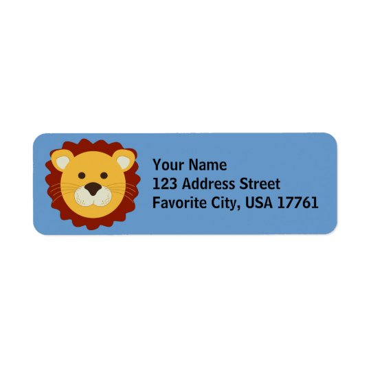 Friendly Lion Address Labels
