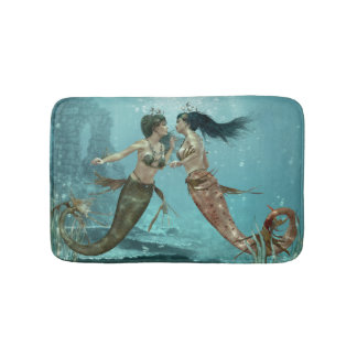 Friendly Mermaids Bath Mats