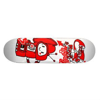 Friendly music robot skate board deck