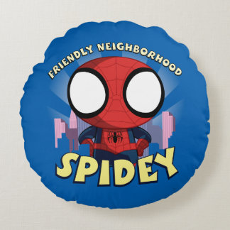 Friendly Neighborhood Spidey Mini Spider-Man Round Cushion