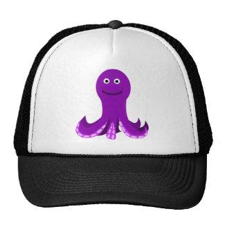 Friendly Purple Cartoon Octopus Mesh Hats