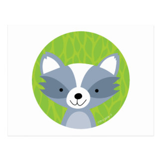 Friendly Raccoon - Woodland Friends Postcard