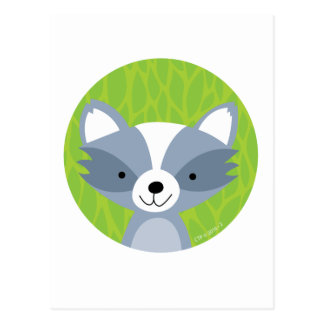 Friendly Raccoon - Woodland Friends Postcard