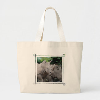 Friendly Rhino Large Tote Bag