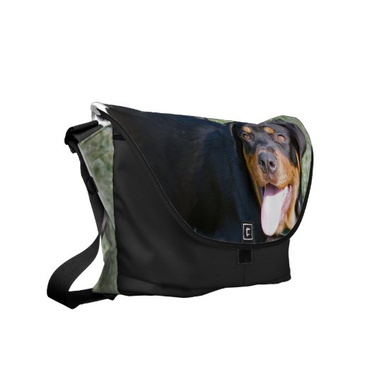 Friendly Rottweiler Messenger Bag