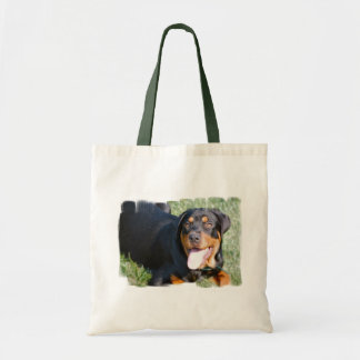 Friendly Rottweiler Tote Bag