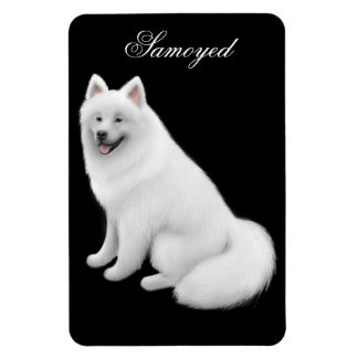 Friendly Samoyed Dog Premium Magnet