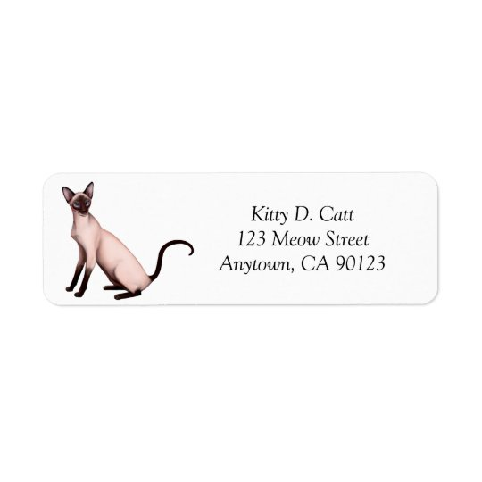 Friendly Siamese Cat Avery Label Return Address Label