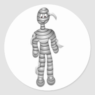Friendly Smiling Mummy Round Sticker