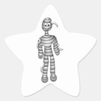 Friendly Smiling Mummy Star Stickers