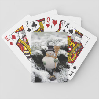 Friendly Snowman Wintry Playing Cards