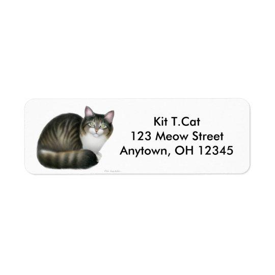 Friendly Tabby Cat Avery Label Return Address Label
