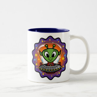 Friendly UFO Two-Tone Coffee Mug
