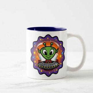 Friendly UFO Two-Tone Mug