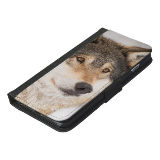 Friendly wolf face iPhone 6/6s plus wallet case