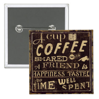 Friends and Coffee 15 Cm Square Badge