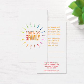 friends and family rainbowBurst referral program Business Card