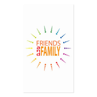 friends and family rainbowBurst referral program Pack Of Standard Business Cards