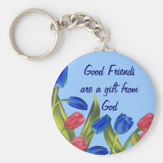 Friends are a gift key ring