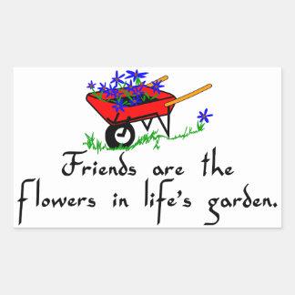 Friends Are Flowers Rectangular Sticker