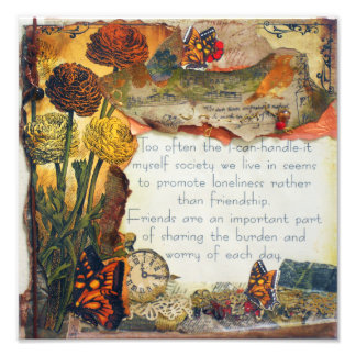 Friends Are Important Mixed Media   Photo Print
