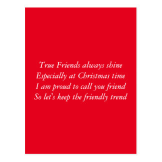 Friends at christmas postcard