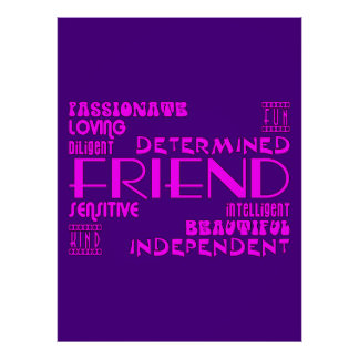 Friends Birthday Parties & Christmas : Qualities Poster
