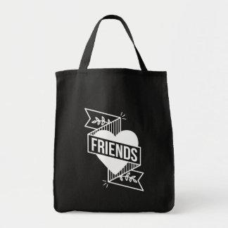 FRIENDS blk Tote Bag