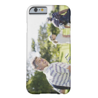 Friends carrying golf bags barely there iPhone 6 case