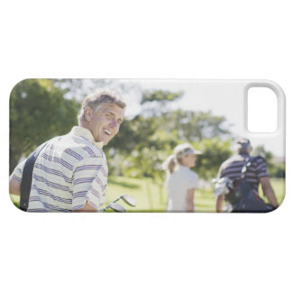 Friends carrying golf bags iPhone 5 cover