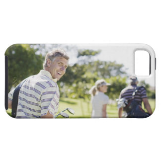 Friends carrying golf bags iPhone 5 case