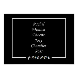 Friends Characters Poster
