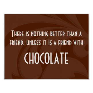 Friends & Chocolate Poster