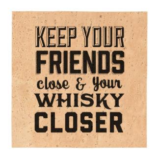 Friends Close Drink Coaster