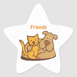 Friends - Dog and Cat Star Stickers