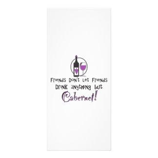 Friends Don t Let Friends Cabernet Full Color Rack Card