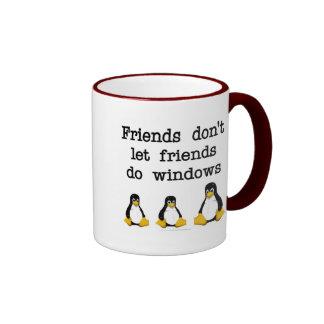 Friends don t let friends do windows coffee mug